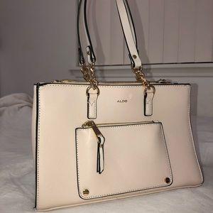 Aldo cream shoulder bag